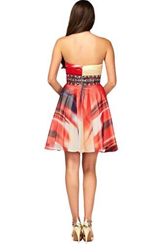 Ballkleid Abendkleid Blumenmuster Nazisse Partykleid Hochwertig Chiffon Ivydressing Damen Promkleid xO0XqwR