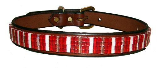 Just FUR Fun Dog Collar, Hot Tamale, 26-Inch, Black -