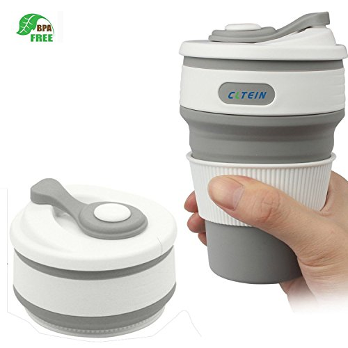Coffee Travel Mug -CLTEIN Collapsible Certified BPA FREE Foo