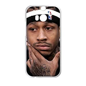 Allen Iverson HTC One M8 Cell Phone Case White TPU Phone Case SY_818636