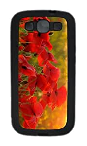 sale case red poppies summer TPU Black case/cover for Samsung Galaxy S3 I9300