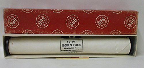 "QRS Player Piano Roll ~ ""Born Free"" Played by Dick Watson, #10-107"