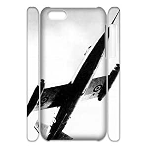 Cell phone 3D Bumper Plastic Case Of Airplane For iPhone 5C