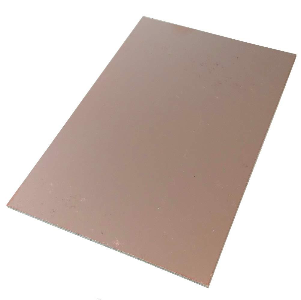 AERZETIX Plaque Planche Feuille en cuivre pour Circuit imprim/é 160//100//1.5mm 70/µm r/ésine epoxy Fibre de Verre C40733