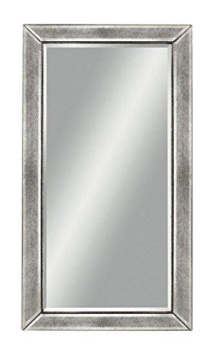 mirror 48. bassett mirror beaded wall mirror, 48-inch, silver leaf 48