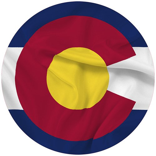 Colorado State Flag 3x5 - 100% Made In USA using Tough, Long Lasting Nylon Built for Outdoor Use, UV Protected and Featuring Authenticated, Proportional Design at Precise Specifications and Quadruple Stitching on the Fly End