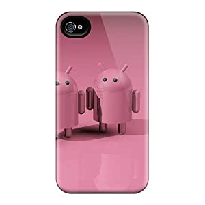 JoyRoom Design High Quality Pink Droids Cover Case With Excellent Style For Iphone 4/4s