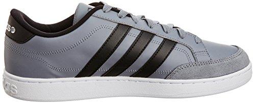 F38474 Label Gris Weiß Schwarz Adidas Neo Grau Uomo Vlset Grigie Scarpe Adidas Grau Pelle wqxZU8a