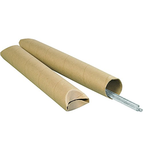 Ship Now Supply SNS3042K Crimped End Mailing Tubes, 3'' x 42'', Kraft (Pack of 24) by Ship Now Supply