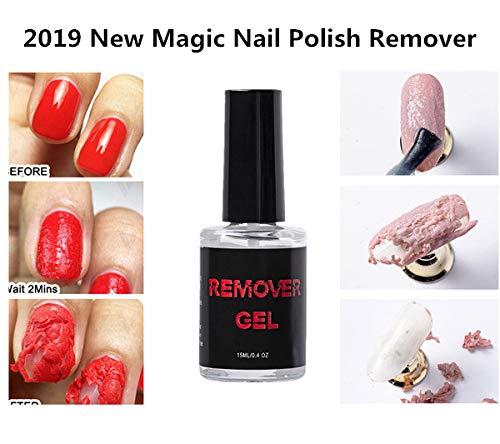 2019 Magic Remover Gel Soak off Remover, Peel Off Magic Burst Gel Remover, Crack Removal Wrap Delete Primer Acrylic Clean 15ML For UV LED Nail Gel Polish ect -Nail Polish Remover In 3-5 MINS (15ML)
