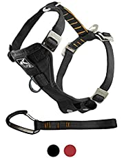 Kurgo Dog Harness | Car Harness for Dogs | Medium | Black | Pet Safety Seat Belt | Certified Crash Tested Harness | Car Seatbelt | Tru-Fit Enhanced Strength Style
