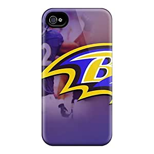 Protective Hard Phone Covers For Iphone 4/4s With Support Your Personal Customized Colorful Baltimore Ravens Series ChristopherWalsh