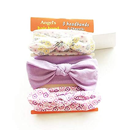 Amazon.com: Newborn Headband Set Rabbit Ear Bow Bands ...