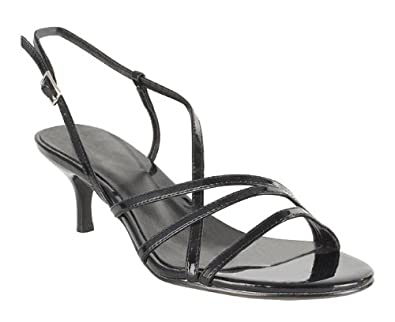 Barratts Womens Black Kitten Heel Sandal Size 2: Amazon.co.uk ...