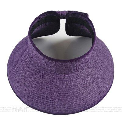 À l'été, chapeaux de plage sports loisirs plein air chapeau pliable mode chapeau de soleil, violet foncé, adultes