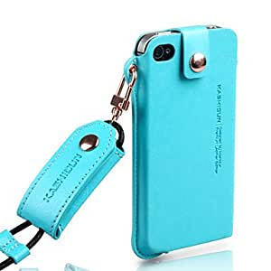 YXF Chain PU Leather Full Body Case for iPhone 4/4S(Assorted Color) , White