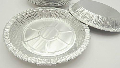KitchenDance 9'' Medium Depth Disposable Pie Pans- 1'' deep- 24 oz. Capacity (500) by KitchenDance (Image #3)