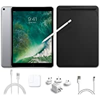 2017 New IPad Pro Bundle (5 Items): Apple 10.5 inch iPad Pro with Wi-Fi 512 GB Space Gray, Leather Sleeve Black, Apple Pencil, Mytrix USB Apple Lightning Cable and All-in-One Travel Charger
