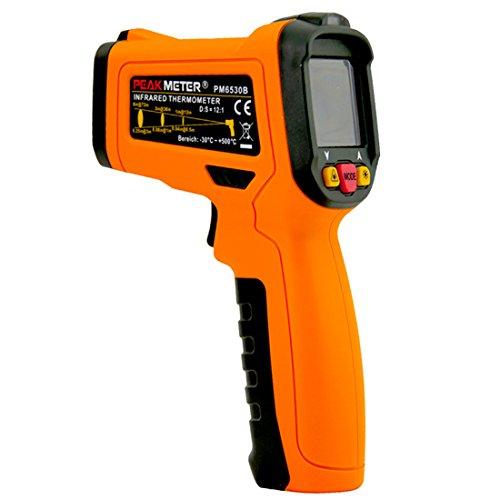 PEAKMETER PM6530B Non-contact Digital Infrared Thermometer -30-500C(-22-932C) Temperature Tester Orange