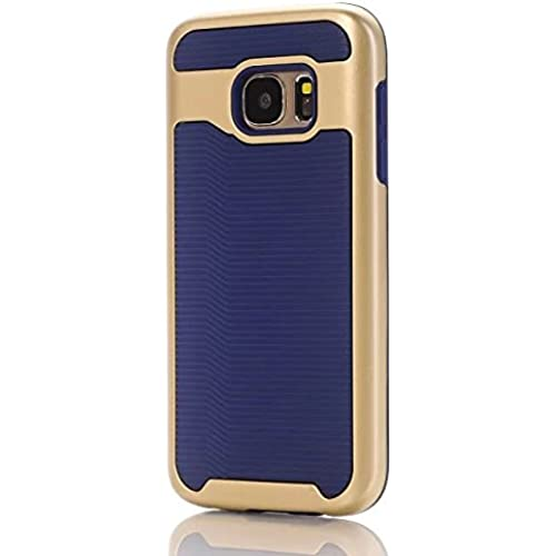 Samsung S7 Case, Haoshi Wavy 2 in 1 Armor Case Shockproof Drop Resistence Back Case for Samsung Galaxy S7 (PC+TPU, Navy) Sales