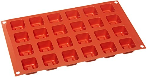 Silikomart SF080/C Silicone Classic Collection Mold Shapes, Square Savarin, Small