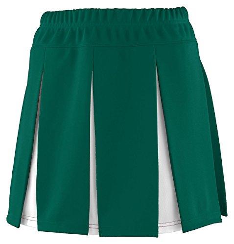 Augusta Sportswear Big Girl's Covered Elastic Waistband Skirt - Dark Green/White 9116A L