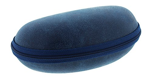 Extra Large Zip Up Eyeglass Case For Men & Women, Fits 2 Pairs Of Glasses, Navy