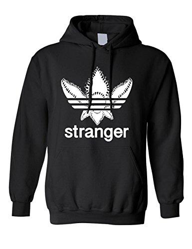 Allntrends Adult Hoodie Stanger Monster Trending Tops Cool Fans Gift Popular (L, Black) ()