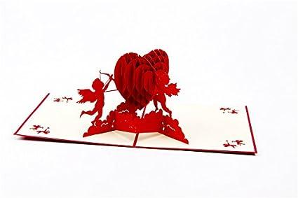 3d amor Pop Up Tarjetas y sobres - romántico único Pop Up ...