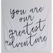 Inspirational Quote 100% Cotton Organic Baby Swaddle (Greatest Adventure)