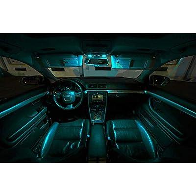 Yoper BA9S 53 57 1895 64111 LED Light Bulb for Car Canbus 12V Ice Blue 10pcs: Automotive
