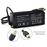 20V 90W USB AC Adapter Battery Charger Power Supply for Lenovo ThinkPad X1 Carbon Touch Ultrabook T440 E431 6277-9QU 45N0236 45N0237 T540p