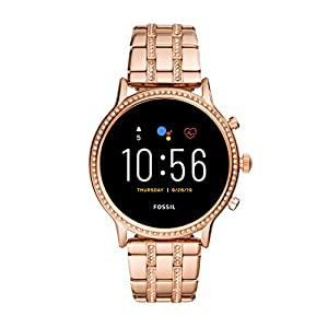 Fossil Gen 5 Julianna HR Heart Rate Stainless Steel Touchscreen Smartwatch, Color: Rose Gold (Model: FTW6035)