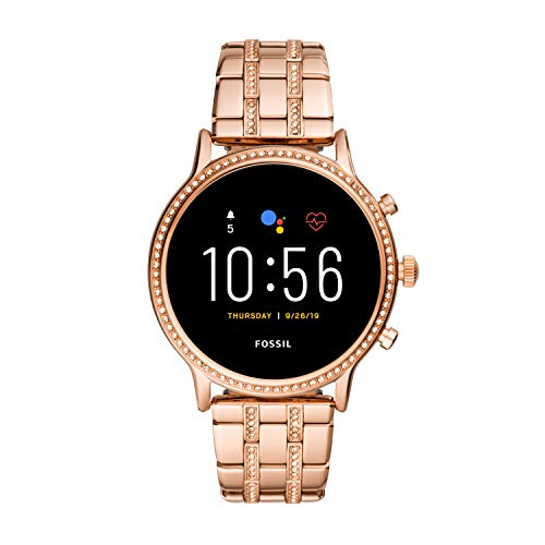 Fossil Gen 5 Julianna HR Heart Rate Stainless Steel Touchscreen Smartwatch, Color: Rose Gold (Model: FTW6035) (Fossil Watch Women Heart)