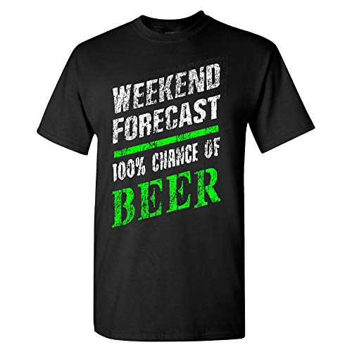 Extreme Muddin Weekend Forecast on a Black T Shirt - XL (Heineken Shirt)