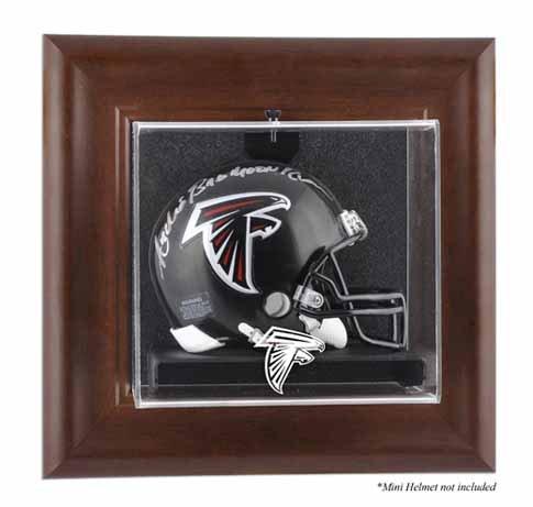 Mounted Memories Atlanta Falcons Brown Frame Mini Helmet Display ()