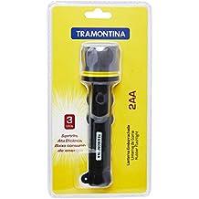 Tramontina 43757300, Lanterna Plástica 2 Pilhas AA, 3 Lâmpadas de Led, Preto