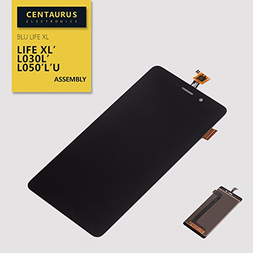 New Black Full Assembly Touch Screen Digitizer LCD Replacement Display Combo for BLU Life XL L030L L050L L050U L050Q L0050UU L0051UU Cell Phones Parts (Touch+LCD-Black)