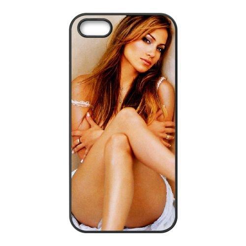 Jennifer Lopez 003 coque iPhone 5 5S cellulaire cas coque de téléphone cas téléphone cellulaire noir couvercle EOKXLLNCD24747