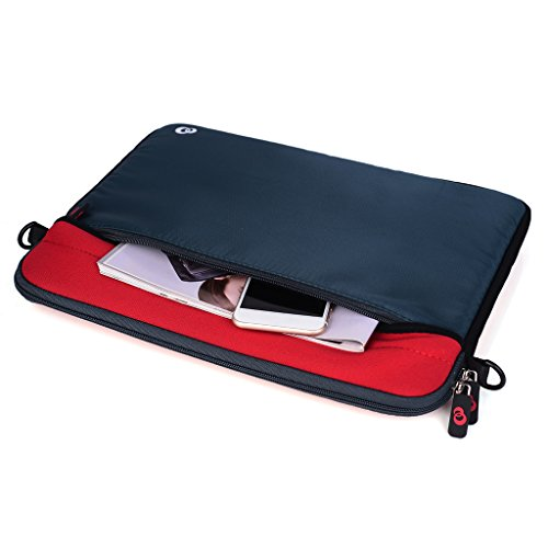 Kroo Tablet/Laptop Hülle Sleeve Case mit Schultergurt für Toshiba Portege z30-a-13e rot rot rot m3oX8