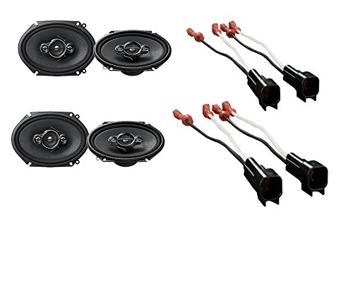 Ford F-150 2004-2008 Factory Speakers Replacement (2) 6X8 4 Way Speaker
