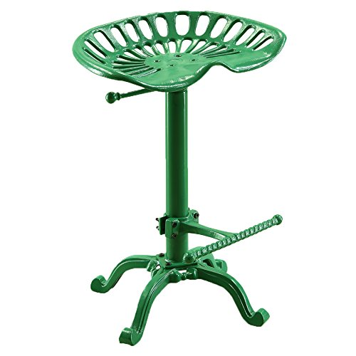 Carolina Chair and Table Adjustable Seat Stool, Novelty, Tractor Green (Rustic Furniture Carolina)