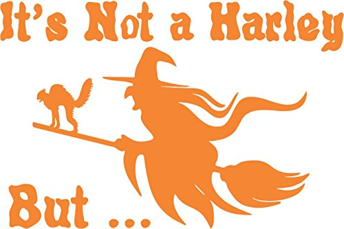 Vampire Costumes Pinterest (Not Harley Witch Halloween cat Broom Orange - Die Cut Vinyl Window Decal/Sticker for Car/Truck)