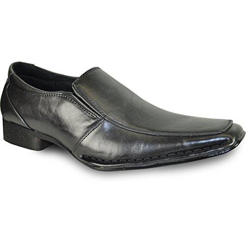 Coronado Hommes Robe Chaussure Marino-5 Classique Mode Mocassins Point Moc Toe Avec Doublure En Cuir Noir