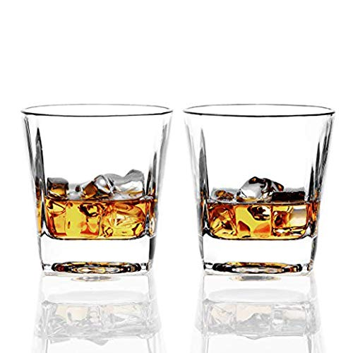 REATR Square 8-Ounce Whisky Glasses set