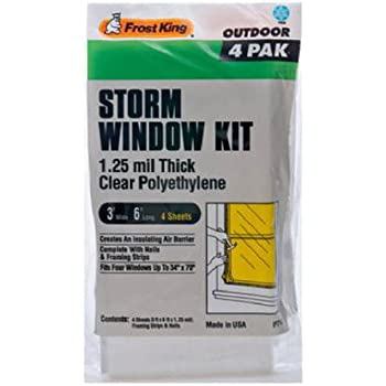 Frost King P714h Economy Outdoor Plastic Storm Window Kits