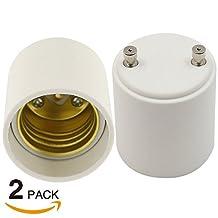 2 pcs GU24 to E26/E27 Adapter - GU24 Bayonet Base to E26/E27 Edison Screw Bulb Socket Adapter Converter