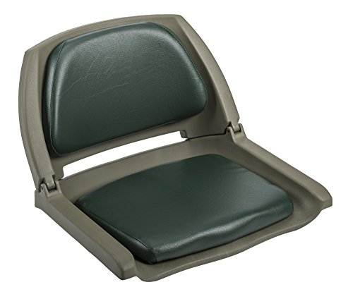 Wise 8WD139 Series Molded Fishing Boat Seat with Marine Grade Cushion Pads, Green Shell, Green Cushion