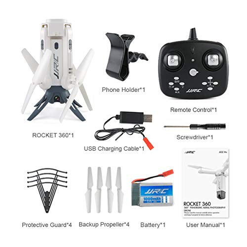 (Kmtar JJR/C H51 RC Helicopter Rocket-Like 360 WiFi FPV Selfie Elfie Drone with Camera HD 720P Altitude Hold RC Quadcopter)