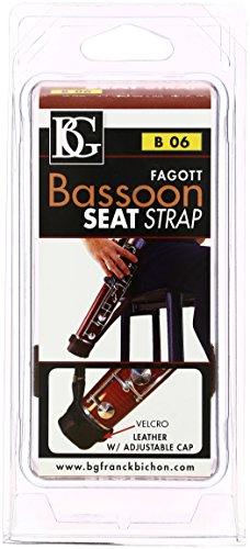 BG B06 Bassoon Leather Seat Strap with Adjustable Cap